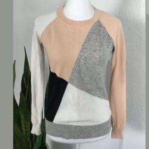 Madewell Colorblock Crewneck Sweater